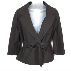 Michael Kors black blazer coat jacket belted small